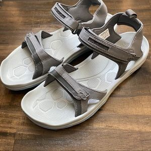 Columbia Gray and Blue Women's Sandals